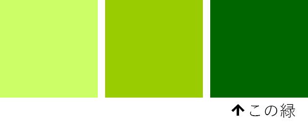 3種類の緑の比較