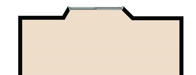 ウィンドウベンチのある部屋の平面図