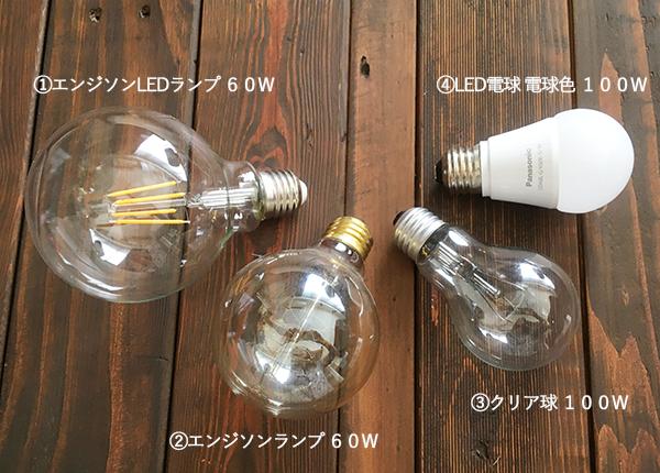 4種類の電球