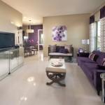 差し色を紫にしたセンスが良すぎる部屋別インテリア20選